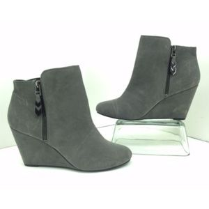 BCBGeneration Wyno Grey Zip UP Ankle Boots Women's